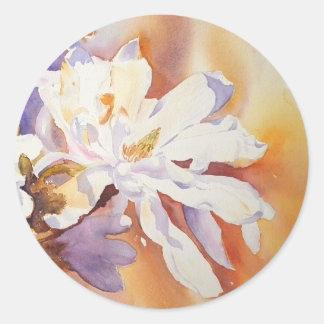 Magnolia Stellata Classic Round Sticker
