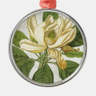 Magnolia Thompsoniana Silver-Colored Round Decoration