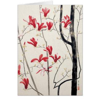Magnolia Tree by Kobayashi Kokei, Vintage Nature Greeting Card