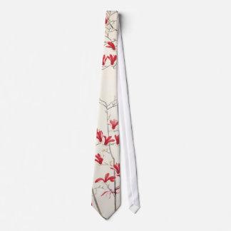 Magnolia Tree by Kobayashi Kokei, Vintage Nature Tie