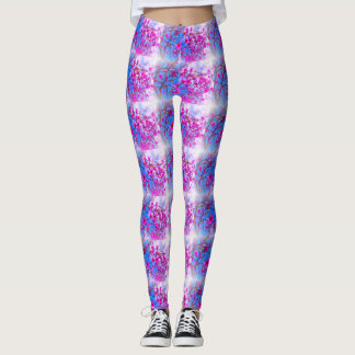 Magnolia Tree Pattern Leggings