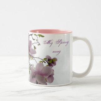 Magnolia tree Two-Tone coffee mug