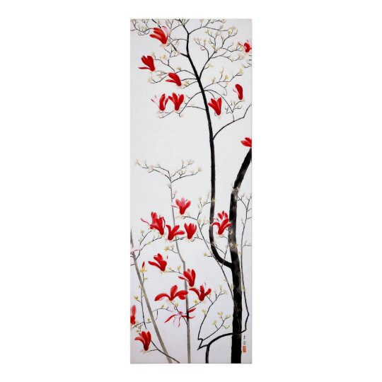 Magnolia Tree Vintage Kobayashi Kokei Poster