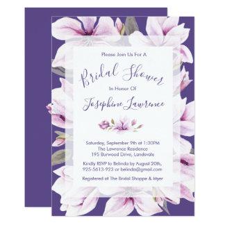 Magnolia Violet Bridal Shower Invitation