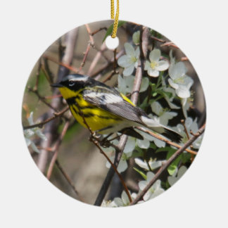 Magnolia Warbler Christmas Ornament
