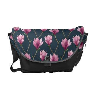 Magnolia Watercolor Floral Pattern Commuter Bag