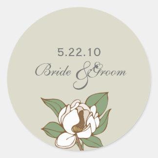 Magnolia Wedding Date Label