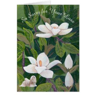 Magnolia with Lhasa Apso Sympathy Card