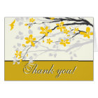 Magnolia yellow flowers wedding Thank you card