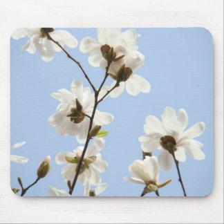MAGNOLIAS Flowers MOUSE PADS MOUSEPAD Blue Sky