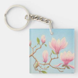 Magnolias in Bloom Wisley Gardens Acrylic Key Ring