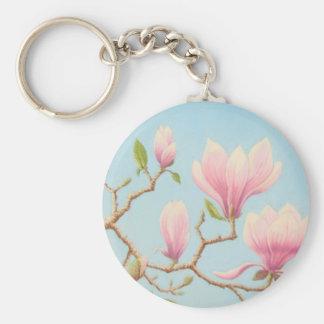 Magnolias in Bloom, Wisley Gardens in Pastel Key Ring