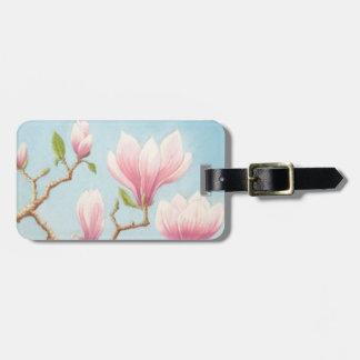 Magnolias in Bloom Wisley Gardens Surrey in Pastel Luggage Tag