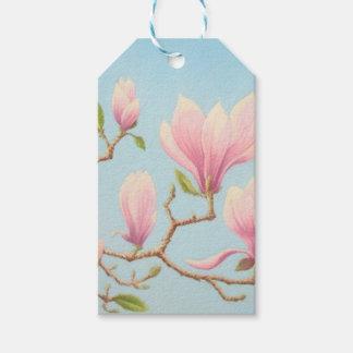 Magnolias in Bloom, Wisley Gardens, Surrey, Pastel Gift Tags