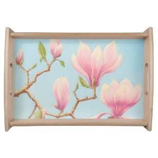 Magnolias in Bloom, Wisley In Pastel Serving Tray