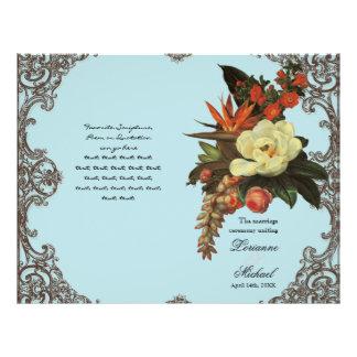Magnolias n Bird of Paradise - Wedding Program Flyer