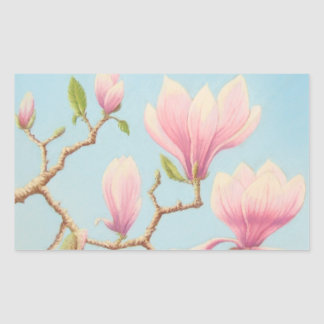Magnolias, Wisley Gardens Rectangle Stickers