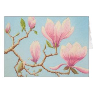 Magnolias, Wisley Gardens, Surrey In Pastel Card