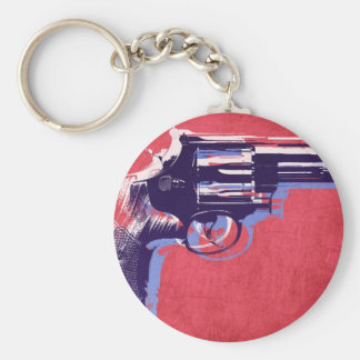 Magnum Revolver on Red Key Chains