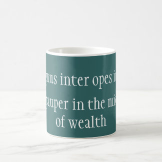 Magnus inter opes coffee mug
