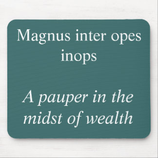 Magnus inter opes mouse pad