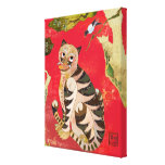 Magpie and Tiger Korean Folk Art Canvas (11x14) Stretched Canvas Print