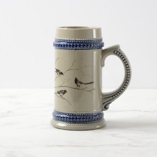 Magpie Bird, Nature, Wildlife Beer Stein