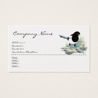 Magpie, Bird, Nature, Wildlife Business Card
