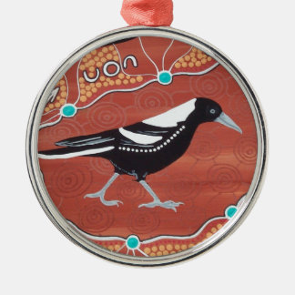 Magpie Dreaming Christmas Ornament