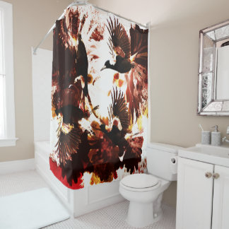 Magpie Flow Shower Curtain
