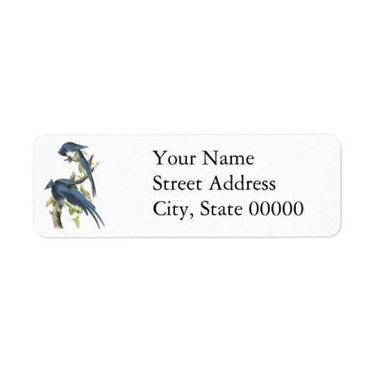 Magpie Jay, John Audubon Return Address Label