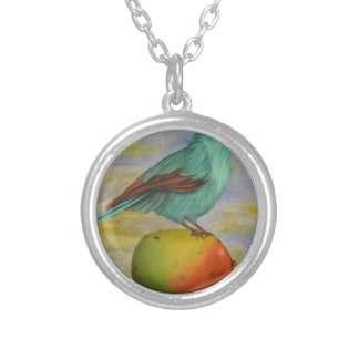 Magpie On A Mango Silver Plated Necklace