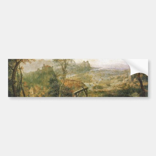 Magpie on the Gallows by Pieter Bruegel Bumper Sticker