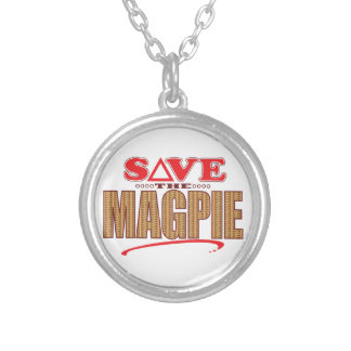 Magpie Save Round Pendant Necklace