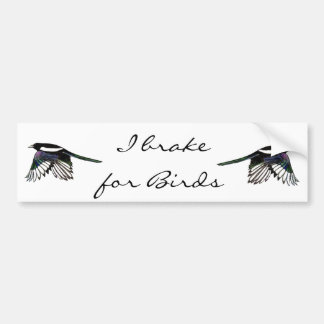 Magpie  - Watercolor Bird Bumper Sticker