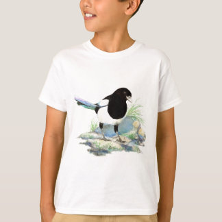 Magpie  - Watercolor Bird T-Shirt
