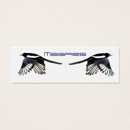 Magpies BookMark Mini Business Card