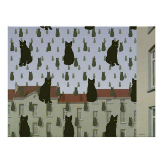 Magritte's Cats Basic Poster Large