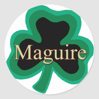 Maguire Family Round Sticker
