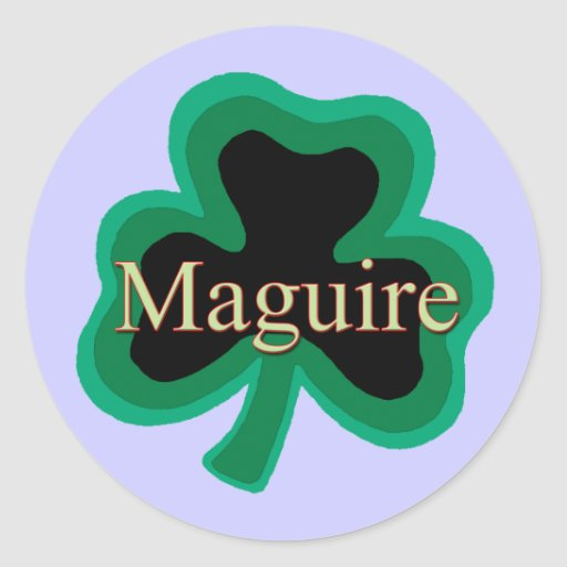 Maguire Family Round Stickers
