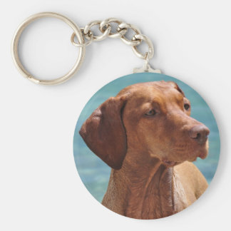 Magyar Vizsla Dog Basic Round Button Key Ring
