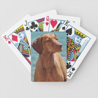 Magyar Vizsla Dog Bicycle Playing Cards