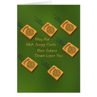 Mah Jong Wishes Card