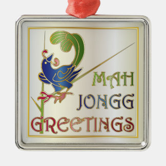 Mah Jongg Christmas One Bam Ornament