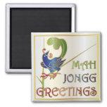 Mah Jongg Christmas One Bam Refrigerator Magnets