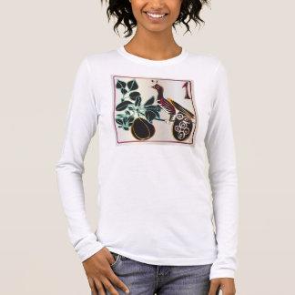 Mah Jongg Christmas Pear and Bird Long Sleeve T-Shirt