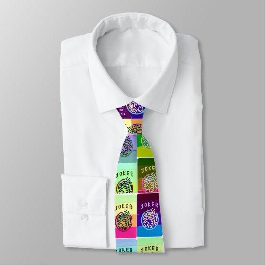 Mah Jongg Coloured Joker Necktie
