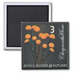Mah Jongg Flowers Chrysanthemum Magnet