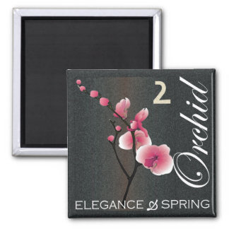 Mah Jongg Flowers Orchid Magnet