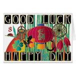Mah Jongg Good Luck Happy Day Greeting Card